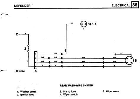 rear wiper motor wiring defender forum lr4x4 the