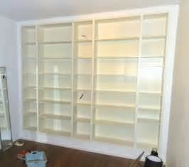 ikea bookshelves built in yet another billy built in