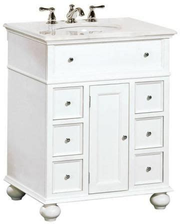 hton bay 28 quot w single bath vanity with white marble top