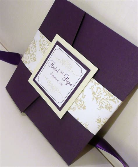 Purple Wedding Invitations by Royalty And Purple Wedding Invitations Wedding