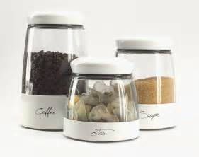 kitchen tea coffee sugar canisters white set of 3 tea coffee sugar glass canisters kitchen storage containers jar ebay
