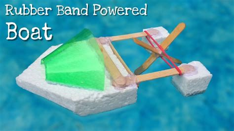 how to make a rubber band powered boat simple elastic - Rubber Band Boat