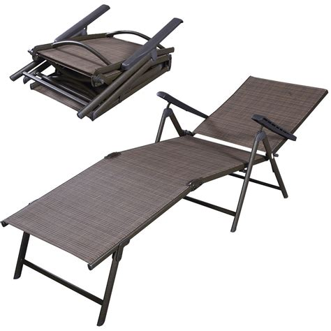Folding Chaise Lounge Pool Chaise Lounge Chair Recliner Outdoor Patio Furniture Folding Adjustable Ebay