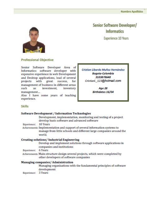 Resume With One Year Experience resume 2 years experience
