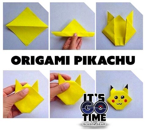 how to make a pikachu origami 5 go drop projects to keep creating