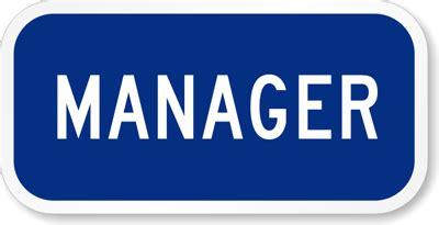 Manager sign restaurant sign sku k 5416