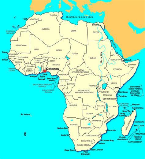 africa map benin cotonou benin map