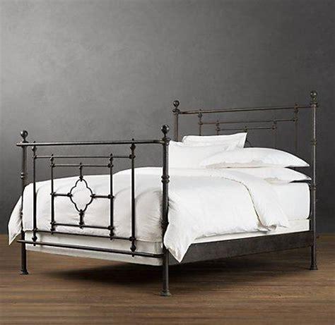 restoration hardware beds 19th c quatrefoil iron bed restoration hardware