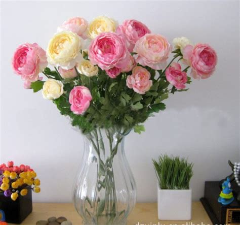 high quality artificial ranunculus flower home christmas