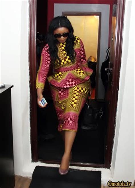 omotla nigerian styles with lace dresses styling omotola jalade ekeinde in 3 outfits for the