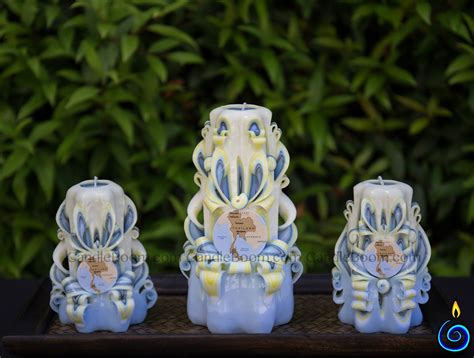 Handmade Carved Candles - handmade carved candles set 19 candleboom
