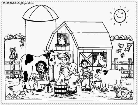 farm coloring pages farm animal coloring pages realistic coloring pages
