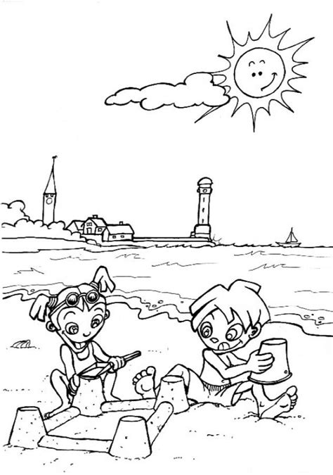 preschool summer coloring pages coloring home