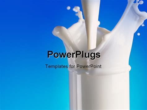 presentation themes for milk powerpoint template pouring milk in glass with a splash