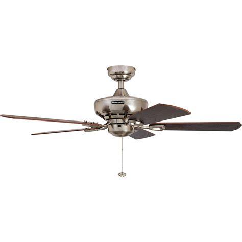 nickel finish ceiling fans honeywell springhill ceiling fan brushed nickel finish