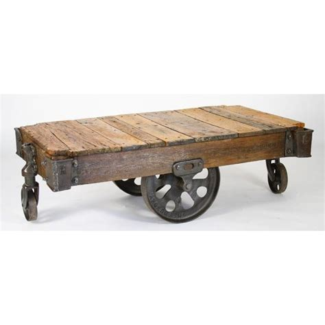 Furniture Cart Coffee Table Vintage Look Cart Coffee Table Pallets Archistructure