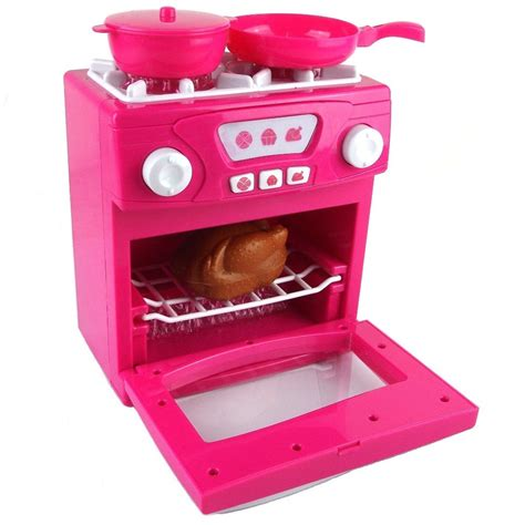 Kitchen Oven Pink children cooker kid oven kitchen cooking play set
