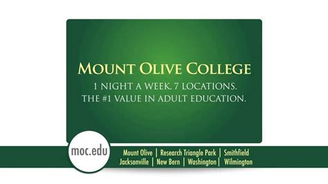 Of Mount Olive Mba Curriculum by Mount Olive College Degree Programs For Students