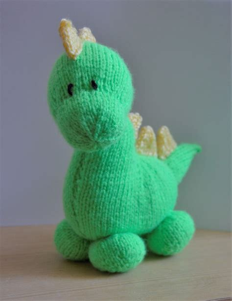 knitted dinosaur pattern free dinky dino knitting pattern knitting by post