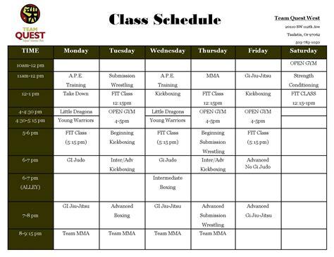 classes for schedule classes team quest martial arts fitness