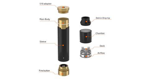 Mod Tsunami Mech Resin Kit Authentic Copper e cigarettes geekvape tsunami pro mech kit rda mech