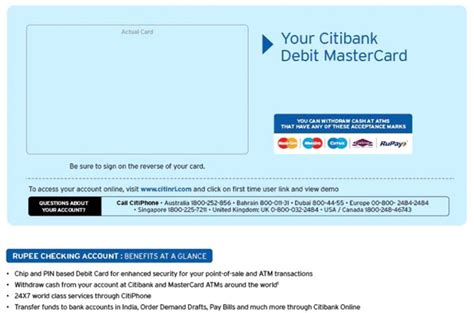 bank account in debit faqs with answers citi india