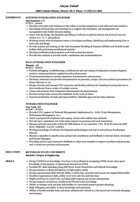 Vehicle Integration Engineer Cover Letter by Vehicle Integration Engineer Sle Resume Iso Management Representative Sle Resume Template