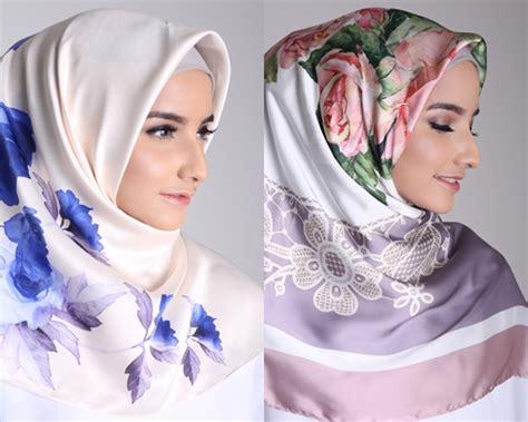 Jilbab Segiempat Motif tren terbaru jilbab segi empat satin motif hijup