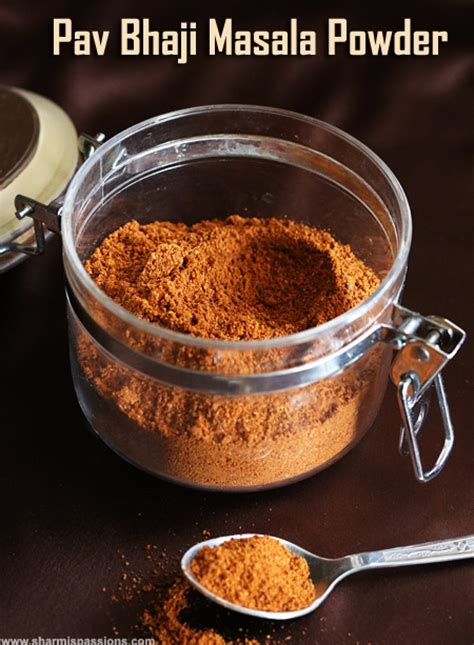 pav bhaji masala powder recipe pav bhaji masala powder sharmis passions