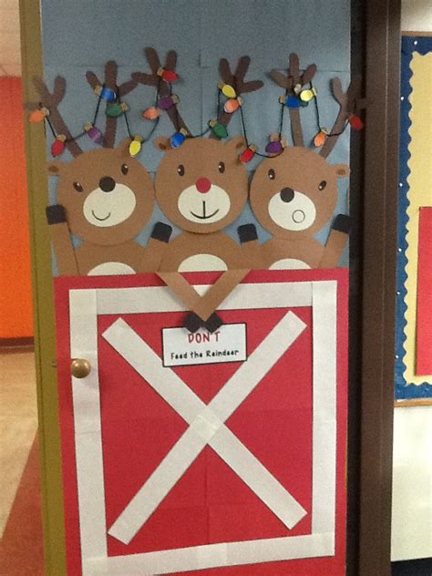 printable christmas decorations for classroom reindeer door door decor pinterest reindeer and doors