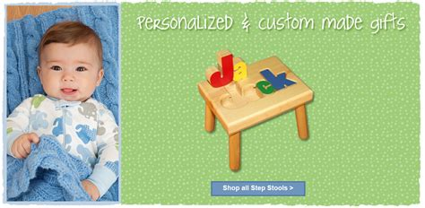 Personalized Baby Gifts Step Stool by Personalized Baby Keepsake Gifts Step Stools More