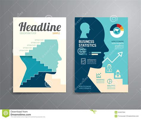 magazine layout design template vector vector brochure flyer magazine cover booklet poster