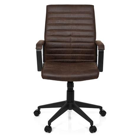 sedie da ufficio sedia da ufficio tavira stile vintage in pelle marrone