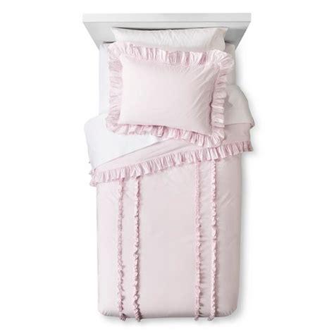ruffle duvet sham set pink simply shabby c target