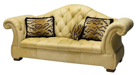 drexel heritage leather camel back 3 seat sofa