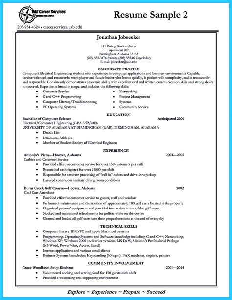 Resume Sle For Accounting Students With No Experience charming exle of college student resume with no