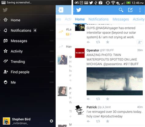 new twitter layout android twitter 5 0 beta for android brings all new design in