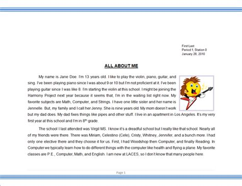 About Me Essay by About Me Essay Images Frompo