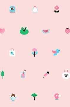 Softcase Gmbr Iphone 6 wallpaper line friends 배경화면 및 배경