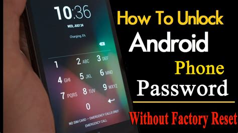 reset android to factory settings without password 6 methods to unlock your android device password without