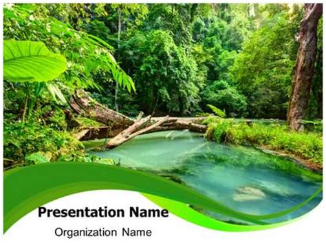 powerpoint templates jungle jungle green powerpoint template background