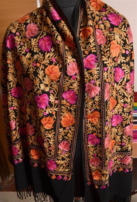 kashmir embroidered pashmina shawl