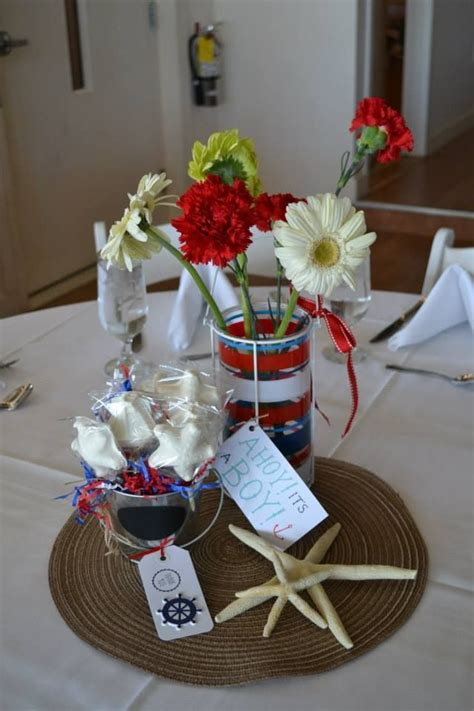 nautical baby shower centerpieces baby shower
