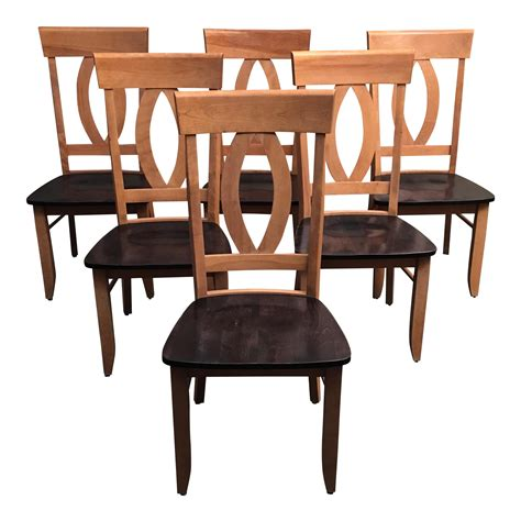Maple Dining Room Chairs Custom Maple Dining Room Chairs Set Of 6 Chairish