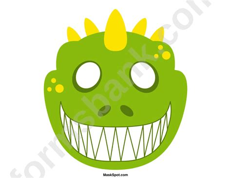 dinosaur mask template free dinosaur mask template printable pdf