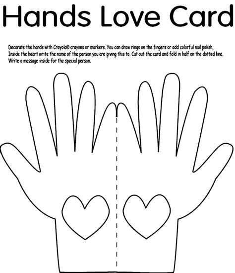 love is printable coloring pages hands love card coloring page crayola com