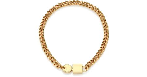 Marc Padlock Key Necklace by Lyst Marc By Marc Padlock Key Chain Necklace In