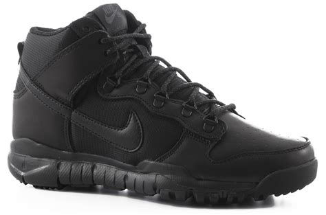 black nike boots nike sb dunk high oms boots black black free shipping