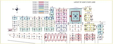 land layout plan 2000 sq ft 3 bhk 3t villa for sale in agni estates fairy