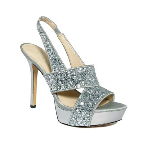 platform sandals nine west fairgame platform sandals in silver silver